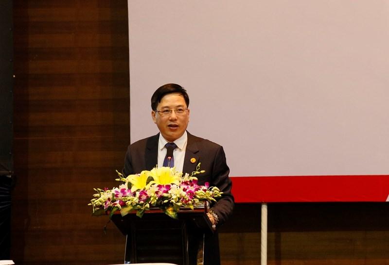 Ông Đặng Quyết Tiến - Cục trưởng Cục Tài chính doanh nghiệp phát biểu khai mạc hội thảo.