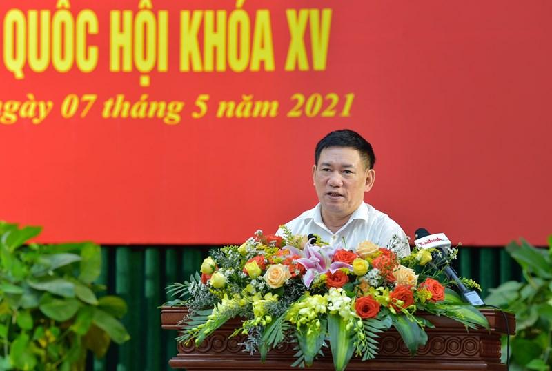 Bộ trưởng Hồ Đức Phớc trao đổi với cử tri tại Trường Đại học Quy Nhơn, tỉnh Bình Định, sáng ngày 7/5/2021.