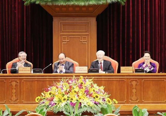 Tổng Bí thư, Chủ tịch nước Nguyễn Phú Trọng chủ trì và phát biểu khai mạc Hội nghị. Nguồn: internet