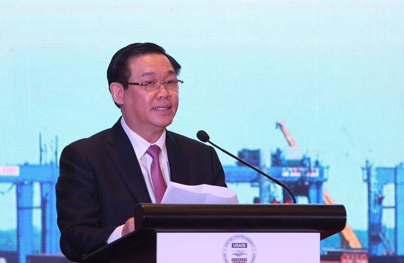Phó Thủ tướng Vương Đình Huệ phát biểu tại buổi lễ. Ảnh VGP/Thành Chung