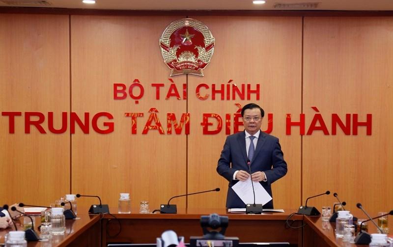 Bộ trưởng Đinh Tiến Dũng phát biểu giao nhiệm vụ cho tân Thứ trưởng.