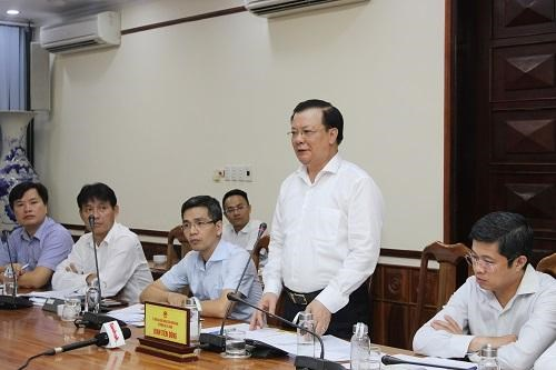 Bộ trưởng Đinh Tiến Dũng phát biểu tại buổi làm việc. Ảnh: Minh Anh