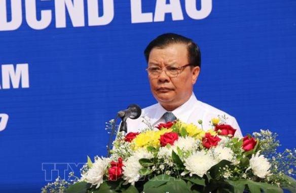 Bộ trưởng Bộ Tài chính Việt Nam Đinh Tiến Dũng phát biểu tại buổi lễ. Nguồn: TTXVN