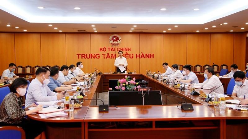 Đồng chí Tạ Anh Tuấn - Bí thư Đảng ủy Bộ, Thứ trưởng Bộ Tài chính chủ trì Hội nghị.