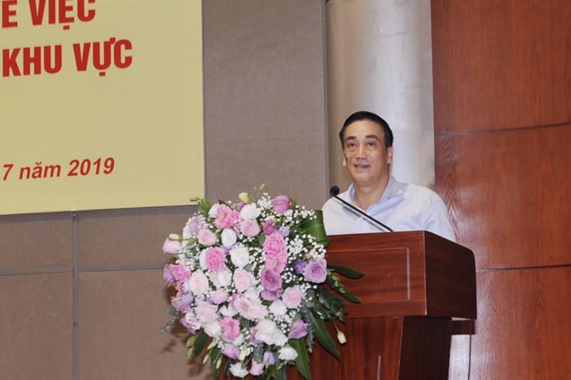 Thứ trưởng Trần Xuân Hà đề nghị, cán bộ, công chức, viên chức của các chi cục thuế khu vực vượt qua khó khăn thách thức để hoàn thành nhiệm vụ.