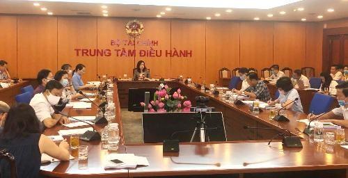 Thứ trưởng Vũ Thị Mai chủ trì hội nghị.