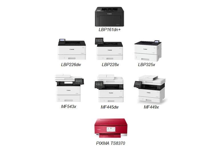 Máy in đơn năng đặc biệt LBP161dn+ và các máy in khác của Canon.