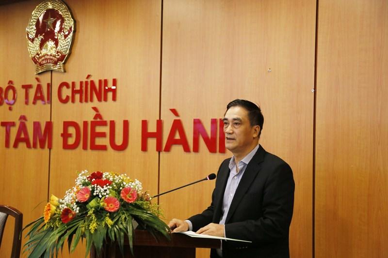 Thứ trưởng Bộ Tài chính Trần Xuân Hà phát biểu tại hội nghị.