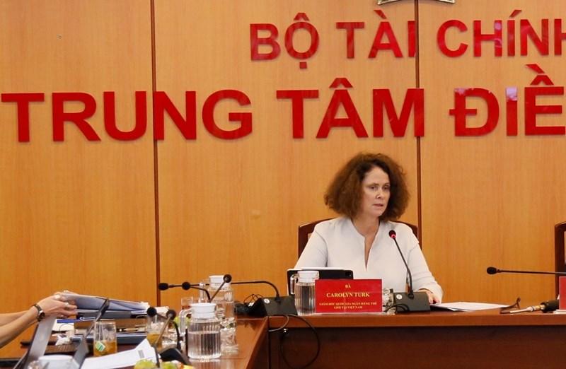Bà Carolyn Turk, Giám đốc Quốc gia Ngân hàng Thế giới tại Việt Nam phát biểu tại hội nghị.
