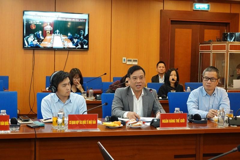 Hội nghị trực tuyến với các địa phương về đánh giá tình hình giải ngân vốn đầu tư công nguồn vay nước ngoài 11 tháng đầu năm 2020, điểm cầu tại trụ sở Bộ Tài chính.