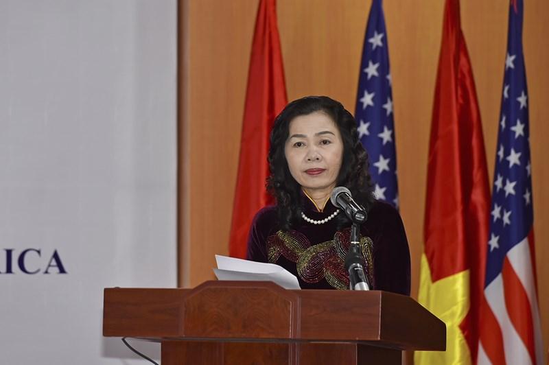 Thứ trưởng Vũ Thị Mai phát biểu tại Lễ ký