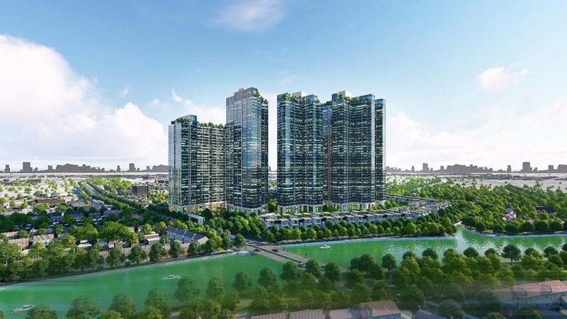 Cảnh quan ngoại khu theo phong cách Châu Âu của Sunshine City Sài Gòn