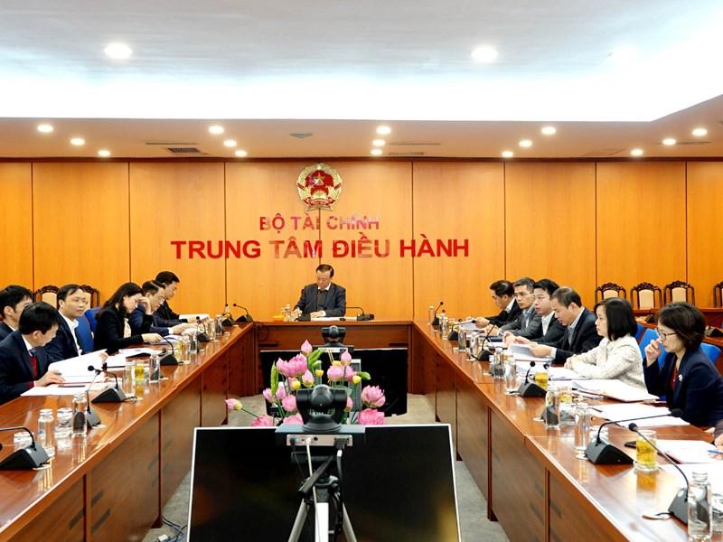Toàn cảnh Hội nghị tại điểm cầu Bộ Tài chính.