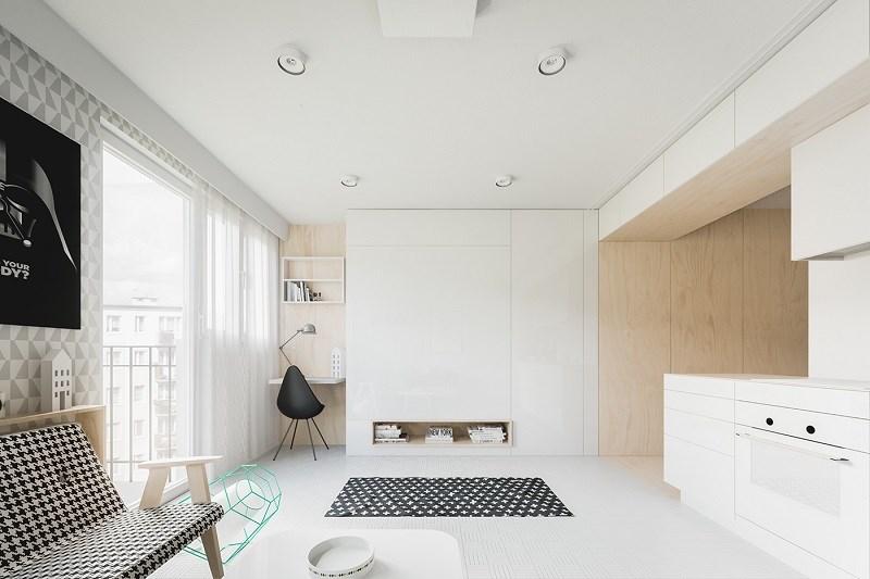 Những màu sắc sáng và đường nét đơn giản luôn giúp tạo ra một căn phòng trông lớn hơn so với thực tế một chút.