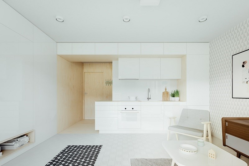 Các nhà thiết kế đã sử dụng một mẫu vải đặc biệt để làm nôi thất cho căn nhà này.