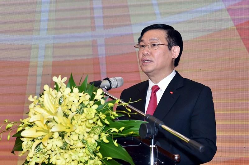 Phó Thủ tướng Vương Đình Huệ phát biểu tại buổi lễ. Ảnh: VGP/Nhật Bắc
