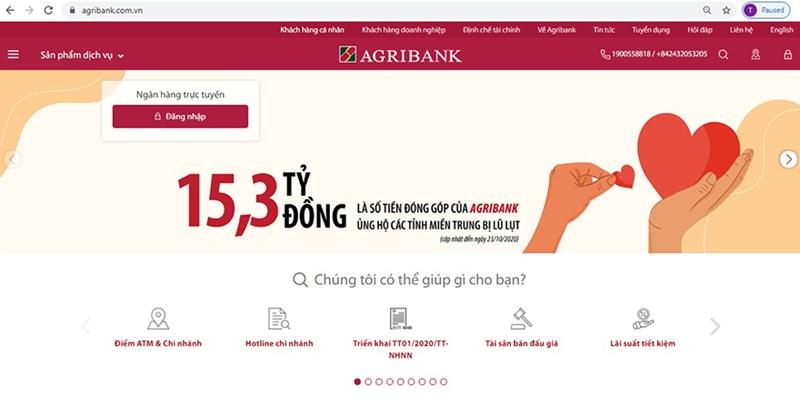 Đường link và trang website chính thức và duy nhất của Agribank