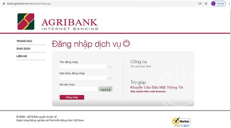 Đường link và địa chỉ chính thức duy nhất của Agribank Internet Banking