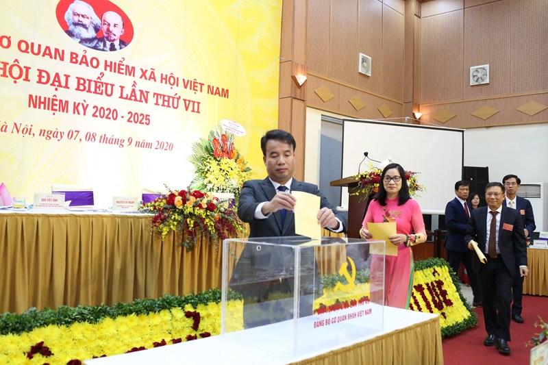 Tại Đại hội Đảng bộ cơ quan BHXH Việt Nam lần thứ VII nhiệm kỳ 2020-2025, các đại biểu đã lựa chọn, bầu ra Ban Chấp hành Đảng bộ cơ quan BHXH Việt Nam nhiệm kỳ 2020-2025 gồm 26 đồng chí.