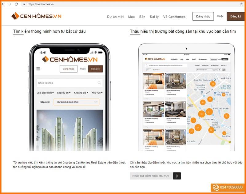 Trong quý I/2019, app Cenhomes trên các thiết bị điện tử thông minh như điện thoại di động, máy tính bảng… sẽ chính thức đi vào hoạt động.