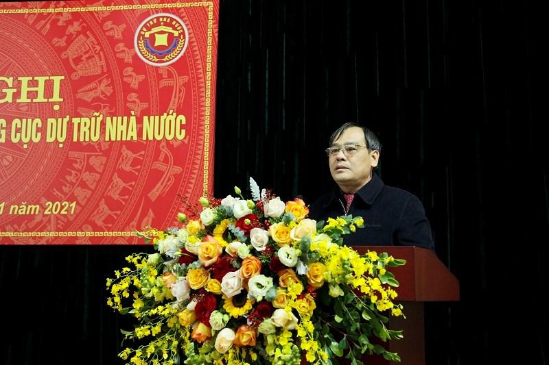 Phó Chủ tịch Thường trực Công đoàn Bộ Tài chính Bùi Xuân Ngọc phát biểu tại hội nghị.