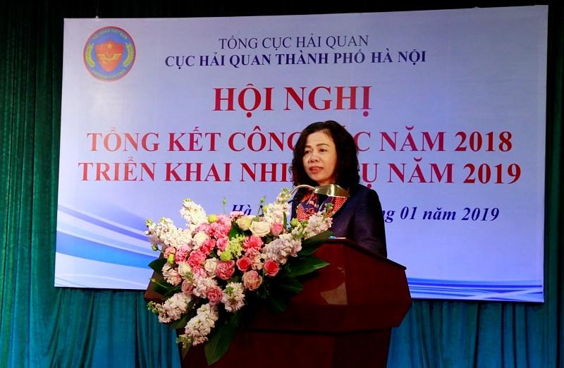 Thứ trưởng Bộ Tài chính Vũ Thị Mai phát biểu tại Hội nghị.