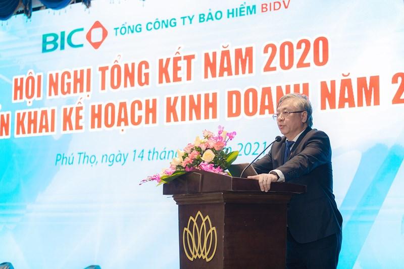 Ông Trần Xuân Hoàng - Ủy viên HĐQT BIDV, Chủ tịch HĐQT BIC phát biểu chỉ đạo tại Hội nghị.