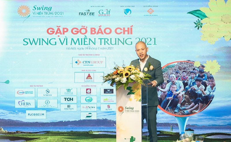 Ông Nguyễn Xuân Trung – Tổng giám đốc Cen Golf, Trưởng ban tổ chức giải phát biểu tại sự kiện.
