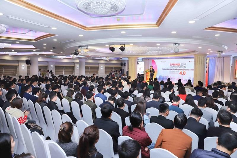 Sự kiện thu hút sự quan tâm tham gia của hơn 500 sàn liên kết, đối tác tại Hà Nội.