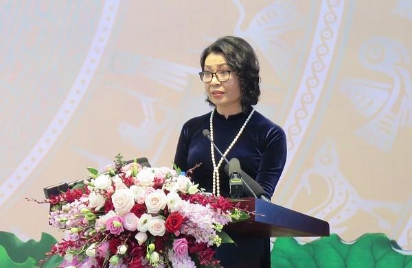 Thứ trưởng, Tổng Giám đốc BHXH Việt Nam Nguyễn Thị Minh:25 năm qua, BHXH Việt Nam luôn chủ động, bám sát các giải pháp, chỉ đạo điều hành của Chính phủ, Thủ tướng Chính phủ.