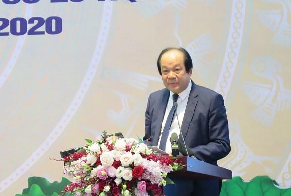 Bộ trưởng, Chủ nhiệm Văn phòng Chính phủ Mai Tiến Dũng đánh giá cao công tác cải cách TTHC, ứng dụng công nghệ thông tin của BHXH Việt Nam.
