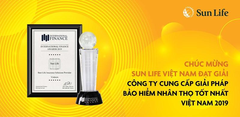 Giải thưởng tiếp tục khích lệ Sun Life Việt Nam thực hiện mục đích giúp Khách hàng đạt được an toàn tài chính trọn đời và tận hưởng cuộc sống khỏe mạnh hơn.