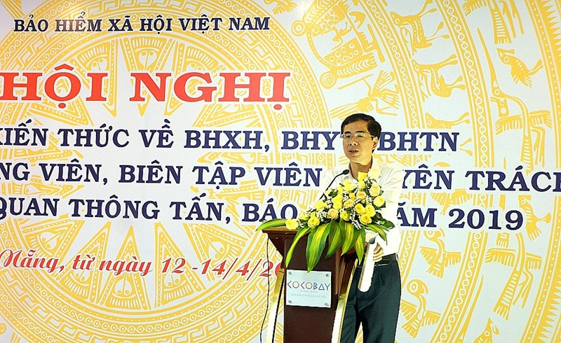 Phó Tổng Giám đốc BHXH Việt Nam Đào Việt Ánh phát biểu khai mạc Hội nghị.
