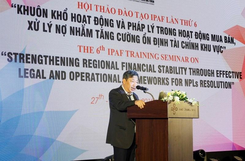 Ông Lê Hoàng Hải, Chủ tịch Hội đồng thành viên DATC phát biểu tại Hội thảo.