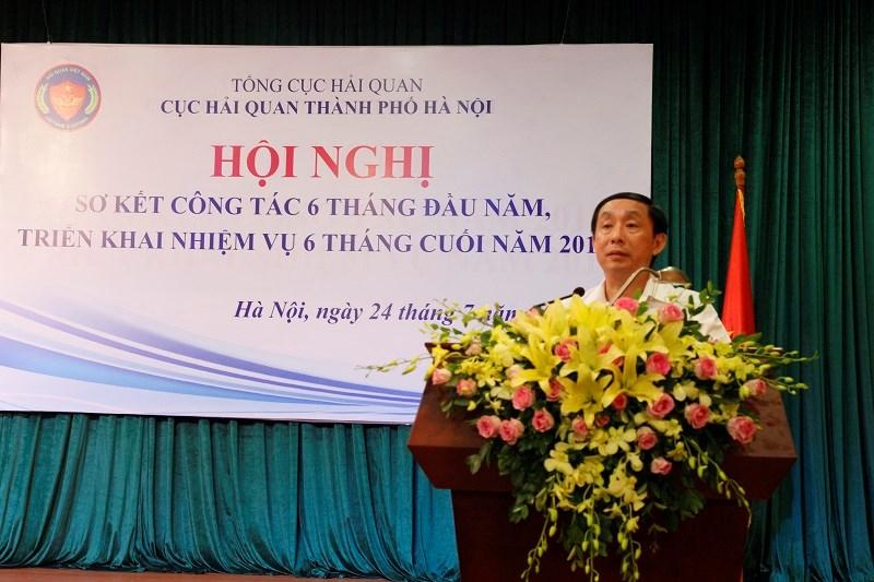 Phó Tổng cục trưởng Tổng cục Hải quan Hoàng Việt Cường phát biểu tại Hội nghị.