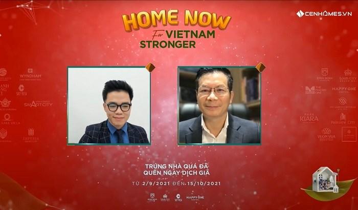 """Shark Hưng chia sẻ: Chiến dịch """"Home now for Vietnam stronger"""" là cơ hội vàng để mua nhà và đầu tư với nhiều giải thưởng giá trị, những sản phẩm thực chất."""