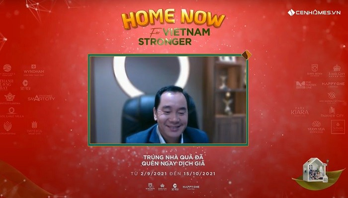 """Chủ tịch HĐQT Tập đoàn Cen Group Nguyễn Trung Vũ kích hoạt chiến dịch """"Home now for Vietnam stronger""""."""
