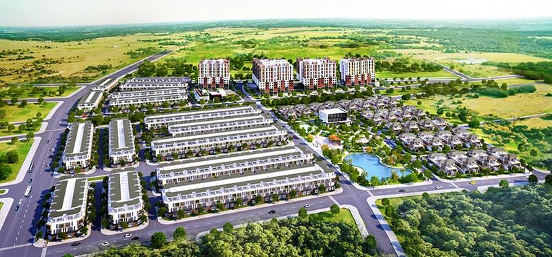 Bất động sản Phố Nối xuất hiện nhiều dự án quy mô lớn.