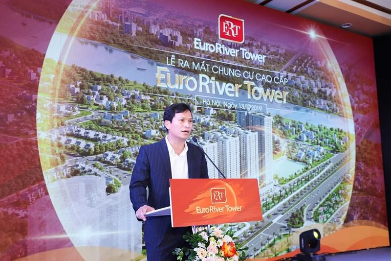 Ông Vương Văn Tường – Tổng giám đốc CenInvest phát biểu khai mạc chính thức ra mắt tòa căn hộ Euro River Tower.