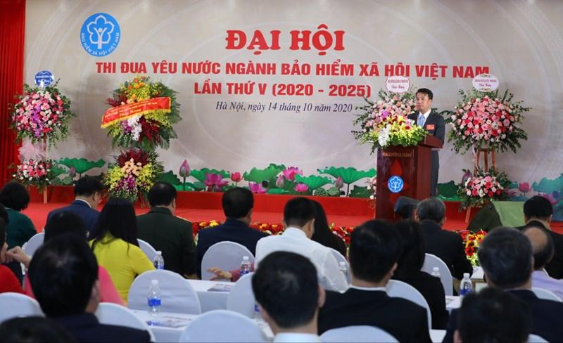 Tổng Giám đốc BHXH Việt Nam Nguyễn Thế Mạnh phát biểu tại Đại hội.