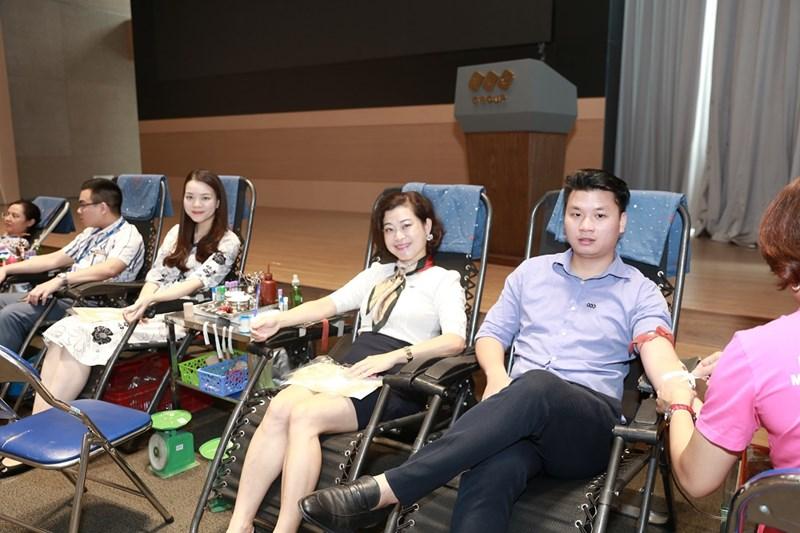 Ngày hội hiến máu tại trụ sở chính của Tập đoàn FLC (Hà Nội).