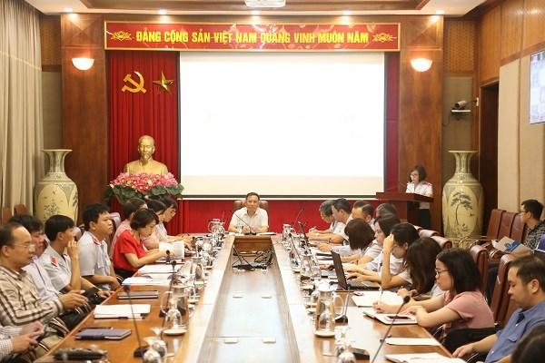 BHXH Việt Nam tổ chức Hội nghị giao ban trực tuyến về công tác thanh tra, kiểm tra (ngày 6/10/2020). Phó Tổng Giám đốc BHXH Việt Nam Lê Hùng Sơn chủ trì Hội nghị