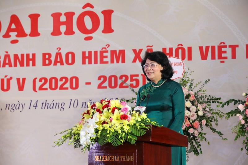 Phó Chủ tịch nước Đặng Thị Ngọc Thịnh phát biểu chỉ đạo Đại hội