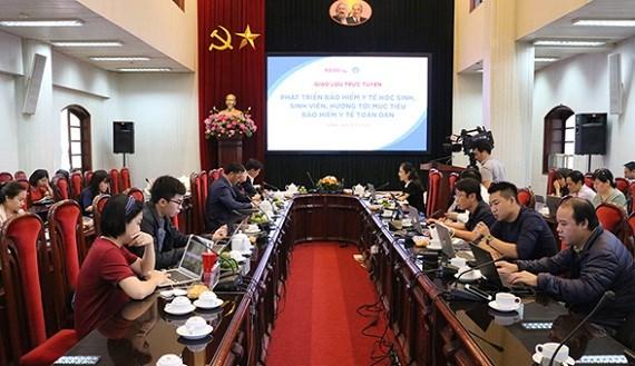 BHXH Việt Nam phối hợp Báo Nhân Dân điện tử tổ chức chương trình giao lưu trực tuyến về thực hiện chính sách BHYT học sinh, sinh viên (ngày 16/10/2020)