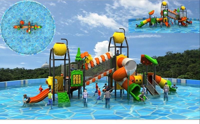 Một số hạng mục khu vui chơi dưới nước cũng đang trong giai đoạn xây dựng, dự kiến sẽ đi vào hoạt động vào 30/4/2020.