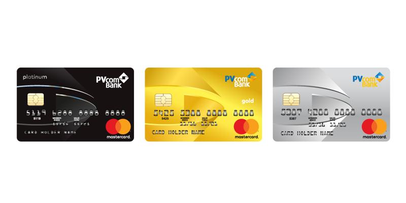 Mẫu thẻ tín dụng chuẩn do PVcomBank phát hành.