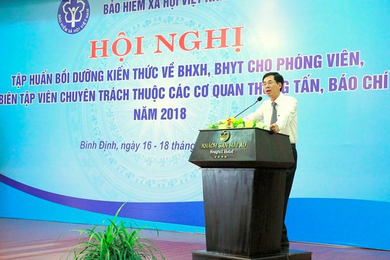 Ông Đào Việt Ánh - Phó Tổng Giám đốc BHXH Việt Nam phát biểu tại Hội nghị.