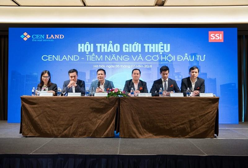 Ban Lãnh đạo CENLAND trả lời câu hỏi của nhà đầu tư tại Hội thảo.