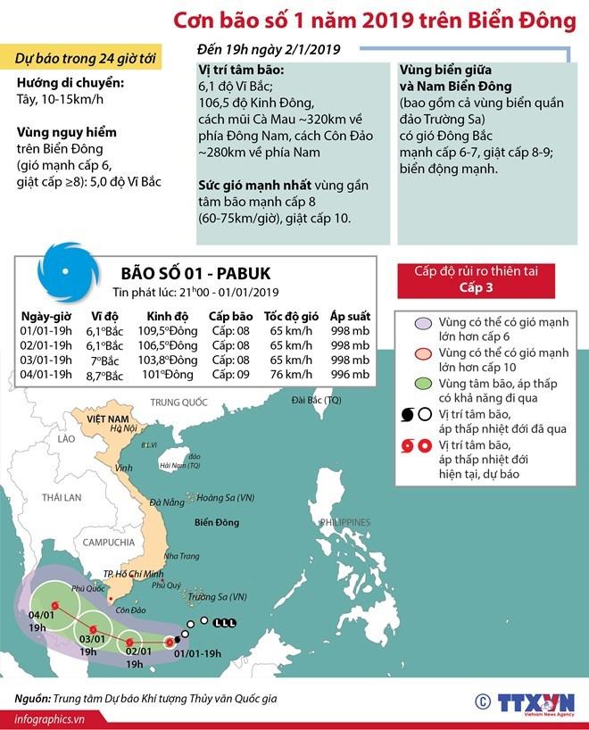 [Infographic] Bão số 1 cách Nam Bộ khoảng 450km và có khả năng mạnh thêm - Ảnh 1