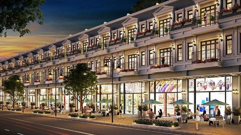 Phối cảnh khu phố thương mại dự án Palado Vạn An